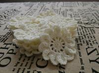 achat en gros de free appliques crochet fleurs-2016 Nouvelle Arrivée 5.5cm Crochet Appliques Crochet Fleurs à la main Accessoires de couture Accessoires de bricolage Accessoires Livraison gratuite