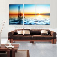 acrylic painting sea - Hand Painted Abstract Oil Paintings On Canvas Hang Picture For Living Room Wall Decor Acrylic Paintings Sea Landscape