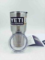 Wholesale 20 oz YETI Tumbler Rambler Cups Yeti Rambler Tumbler Stainless Steel oz Mugs Large Capacity Stainless Steel Travel Mug from cest