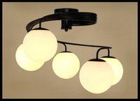 artistic shade - AC V V V V Modern minimalist LED ceiling circular lights artistic living room bedroom children s room glass shade restaurant lam
