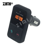 Wholesale Black Hands Free Wireless Bluetooth FM Transmitter Modulator Car Kit MP3 Player SD USB LCD Remote Controll Car Music Player A29