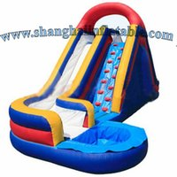 big inflatable slides - Commercial Inflatable water slide with water pool big inflatable slide