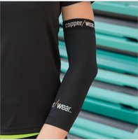 Wholesale Copper Wear Compression Elbow Recovery Sleeve Support Elbow Support Basketball Compression Elastic Breathable Elbow Protector KKA299