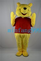 Wholesale 2016 Winnie the Pooh POOH BEAR Mascot costume Adult SIZE Halloween Party Children Fancy dress factory direct