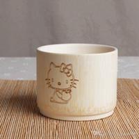 Wholesale free Natural carbonized bamboo bowl rice bowl soup bowls bowls non Japanese children s tableware porcelain bowls a solid color without paint