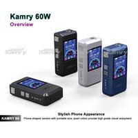 batteries distributors - In business Kamry COLOR SCREEN box mod kit Fast shipping Kamry black ecig mod Replaceable battery e cigarette distributor china