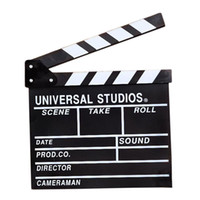 Wholesale 50PCS Director Video Scene Clapperboard TV Movie Clapper Board Film Slate Cut Prop