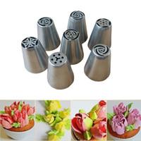 Wholesale 7 Large Icing Syringe Set DIY Coupler Nozzle Tool for Cake Pastry Sugarcraft Plunger Baking