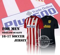 Wholesale 16 Thailand Quality Men s Atletico Madrid Soccer Jersey GRIEZMANN F TORRES GODIN KOKE GABI Football shirts Home Away Soccer Jerseys