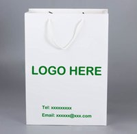 Wholesale Fashional White Paper Shopping Handbag Personalized Printing Paper Gift Bag For Promotion And Trade Show Available For Customized Printing