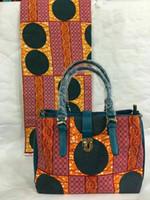 african tote bags - New Wax Fabric Handbags and Wax African Wedding Dress Women s Wax HandBagS with Matching WAX Fabric Set for African Women Party