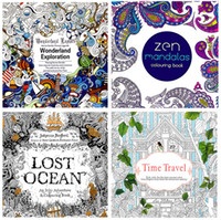 5-7 Years mandala coloring books - Newest style Coloring Books Relieve Stress Books Lost Ocean Zen Mandalas Time Travel Wonderland Exploration