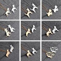 alaska fashion - 2016 New Small animal pendant necklace Starling dog French Bulldog Huskies Teacup dog Alaska dog pendant Necklace Fashion jewelry