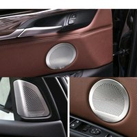 Cheap Black tweeter speaker cover trim for BMW x5 x6 Best pls remark the color when you place the when you play the Music,the LED light wi Chrome trim speaker cover for BMW X5X6