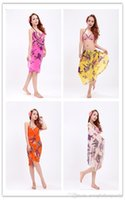 Wholesale 6 colors cm Beach dress Sarongs Beach Towel chiffon Beach shawl skirt with shoulder straps Wrapped towels