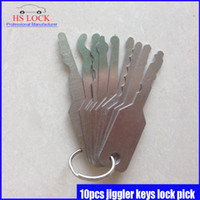 Wholesale 10pcs Jiggler Keys Lock Pick For Double Sided Lock Pick Tools hot sale popular in stock now