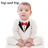 Wholesale 2015 New pure cotton Baby Clothing Bow tie design Baby Romper Infantil babi boy jumpsuit Newborn Babies Rompers Free ship