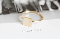 antique rose gold rings - 2016 geometric female male jewelry simple ring delicate antique accessories square ring gold silver rose gold package mail holiday