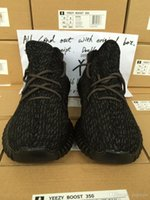 Wholesale With Box And Receipt New Top Quality Yeezy Boost PU Wide Sole Running Shoes Pirate Black Turtledove Moonrock Oxford Tan Low Sneakers