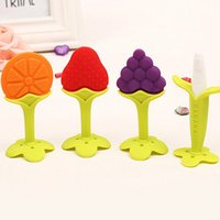 Wholesale Baby Teether Fruit and Vegetable Shape Teether Silicone Brand New Baby Dental Care Toothbrush Training Baby Care Silicone