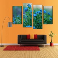 abstract flower photos - Plane Blue Flower Canvas Painting Pictures On The Wall Print Paintings Home Decor Canvas Wall Art Modular Photos No Frame