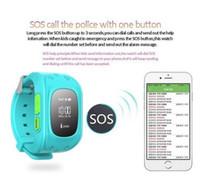 Dispositivo de niño perdido Baratos-Smart Phone Watch Niños Kid Wristwatch GPS Tracker Smart Watch Anti-Lost Q50 Smartwatch Dispositivos Wearable para iOS Android Q50