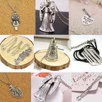 antique tin robots - doctor who dalek necklace vintage alien robot Gallifreyan Sonic screwdriver antique silver pendant jewelry for men women