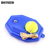 Wholesale New arrival patterned Portable Tennis Ball Trainer Practice Single Train Training Tool Base Partner Kit