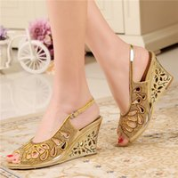 beaded evening shoes - rose gold wedding shoes wedge bridal sandals heel wedding sandals gold prom evening shoes women sandals