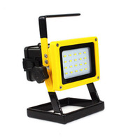 Wholesale Portable w SMD led floodlight can chargeable white light with18650 lithium battery
