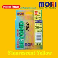 Wholesale Fishing Line Monofilament Line Nylon Line mori m m JAPAN hot sell Super Strong Monofilament LB LB Fluorescent Yellow