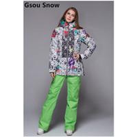 Wholesale Top Quality brand lady ski suit women snowboard woman jacket Sport Suit Water amp windproof outdoor suit lady jacket