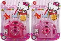 Wholesale Simulation camera Kitty Hello snow white children s toy camera projection pattern toys