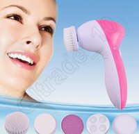 Wholesale LJJK370 Multifunction Electric Face Facial Cleansing Brush Spa Skin Care massage Electric Beauty Care Facial beauty care massager Roller