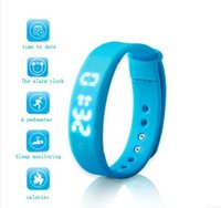alarm contracts - Intelligent electronic watch sports bracelet watch fashion contracted color digital pedometer male and female students intelligent alerts wa