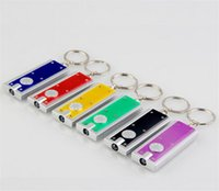 advertising gifts boxes - 2000pcs Tetris LED Light Box type KeyChain Light Key Ring LED advertising promotional creative gifts small flashlight Keychains Lights D945