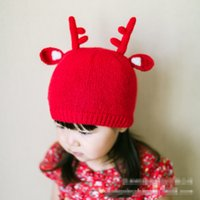 bebe caps - New Kids boys and Girls Knit Cartoon Caps Babies Christmas Knitted Hats Children s Fashion Cute Cap Bebe Accessories