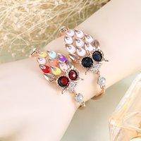 Wholesale 2016 of the latest fashion style wedding owl bracelet Diamond color rose gold bracelet manufacturer euramerican style health care