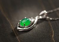 agate suppliers - Elegant Sterling Silver Pendant with Green Agate Jade Guangdong Jewelry Supplier PS03183