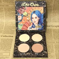 Wholesale In Stock Four Colors Highlighter Concealer Repair Powder Bronzer Lip Gloss Multi Color Combination Eyeshadow