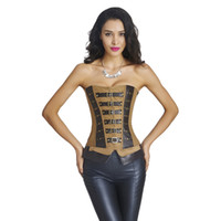 gothic design corset - Top Quality New Gothic Punk Overbust Corset Big Size Buckles and Lace Up Design Steampunk Waist Training Corsets Bustiers W46222
