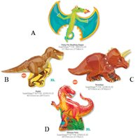 Wholesale 1pcs Anagram Dinosaur Party Cartoon Balloon Supershape Toy Raptor Birthday Balloon Party Supplies Globos Made in America