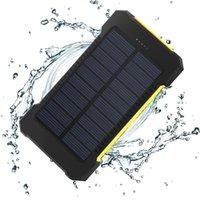 Wholesale NEW arrival mAh Dual USB Waterproof Solar power bank Shockproof Solar Battery Charger Power energy sun external battery