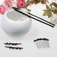 accessories pics - Crystal beads headband clip comb three pics per set cute and elegant high quality handmade girl hair accessories