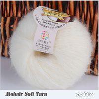 Wholesale 25g ball Yarn For Knitting Mohair Wool Knitting Soft Yarn Fingering Baby Crochet Yarn Knitting Threads Angora Of Crochet DIY Yarns
