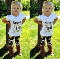 baby shorts ups - Little Girl Maple Leaves Pants Outfit and Never Grow up T shirt short sleeves suits Kids SummerSets Baby girl clothes KR