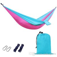 Wholesale Outdoor Activities Camping Parachute Survival Hammocks with Mosquito Net Portable High Strength Hammocks Hanging Beds Hiking Emergency R7