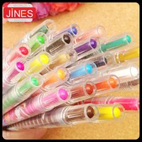 Wholesale 12 Colors Novelty Puzzle Baby boy girls Healthy Cartoon crayons for Drawing painting Rotate Wax crayons Stationery gift