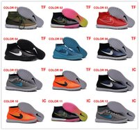 Wholesale MagistaX Proximo IC TF Soccer Shoes Futsal Soccer Boots New Soccer Cleats Hypervenom phantom II High Ankle Indoor Soccer Shoes