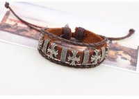 antique rope making - Antique woven leather bracelet made of pure handmade sets of design exotic cross leather bracelet bracelet